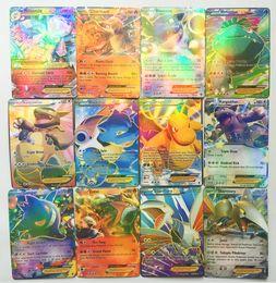 Wholesale Trading Cards Wholesale - 60 Pcs Set English Poke Go Cards XY EX Cards 13 Mega + 47 EX Poke Card Kids Toys Gift Trading Card Christmas Gift