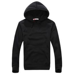 2020 hoodie liso e fino de lã Outono Inverno Homens Fleece Hoodies Cor Pura Com Capuz Quente Pullovers Manga Comprida Slim Fit Camisolas Ocasionais hoodie liso e fino de lã barato