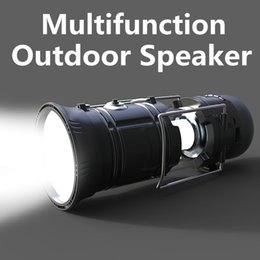 Wholesale Mp3 Player Portable Speaker Box - Multifunction Outdoor Bluetooth Speaker Portable Wireless Bluetooth Speaker With Lantern And Torch Support TF Card FM Radio USB VS Charge 3