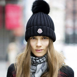 Wholesale Bonnet Hat Beanie - Wholesale-New brand fashion female casual autumn winter Hat ladies warm beanie hats for women bonnet free shipping