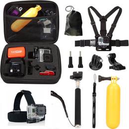 Wholesale 10 in1 accessoires de caméra de sport mis antichoc bandeaux bandoulière poitrine sangle bâton selfie bâton pour héros Livraison gratuite