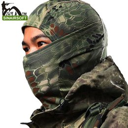 Wholesale Motorcycle Colours - Chiefs Rattlesnake Airsoft Hunting Wargame Breathing Dustproof Face Balaclava Tactical Mask Motorcycle Skiing Cycling Full Hood 9 Colours