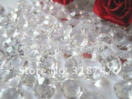 Wholesale Wedding Confetti Table Scatters - 1000pcs 4.5mm Acrylic Clear Diamond Confetti Wedding Party Table Scatters Decoration 16010011(4.5D1000)