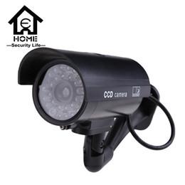 Wholesale Waterproof Fake Cameras - Security Dummy Camera Outdoor Fake Cameras For Home cctv Camera With Flash Red LED Waterproof cctv camera 1pcs