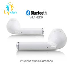 Wholesale Oppo Cell - 2018 New Bluetooth Headphones HBQ I7 Earbud Handfree Earphone Bluetooth Headset With Mic Stereo Headphones For Iphone S6 7 Samsung Oppo
