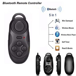 Wholesale Timer For Games Wholesale - Wireless Gamepad Bluetooth Remote Controller For IOS Android Smartphone VR Box Universal Remote Control for Game Movie Music Self Timer Cool