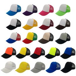 Wholesale Polyester Foams - 28 Colors Fashion Hats Caps 5 Panel Snapback Caps Foam Hat Mens Womens Adjustable Cap Sports Hat with Ribbon Front Accept Logo Custom