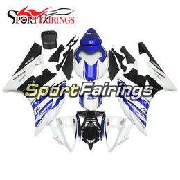 Wholesale 99 Yamaha R6 Fairings - Injection Full Fairings For Yamaha YZF 600 R6 06 07 Year 2006 2007 ABS Motorcycle Fairing Kit Bodywork 50th Anniversary 99 White Blue Covers