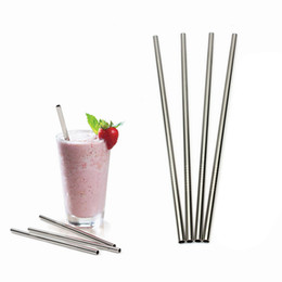 Wholesale Tumblers Drink - Stainless Steel Straws Reusable Straws 10.5 inch Long Bend Straight Drinking Straws for 20 OZ Tervis Tumbler Cups