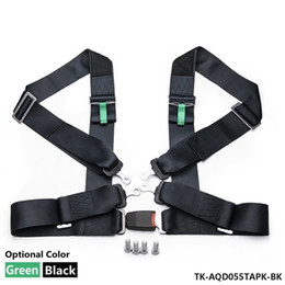 Wholesale TANSKY NEW Black Green POINT quot NYLON RACING HARNESS ADJUSTABLE SAFETY SEAT BELT BUCKLE TK AQD055TAPK