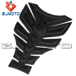 Wholesale Honda Motorcycle Gas - ZJMOTO 3D Rubber sticker Motorcycle sticker Fuel Gas Tank Pad Protector Tank decals sticker For all KAWASAKI Z750 Honda CBR400