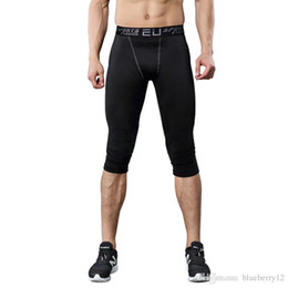 Wholesale Leggings Men - Sportwear Mens compression pants sports running tights basketball gym pants bodybuilding joggers jogging skinny leggings trousers