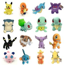 Wholesale Wholesale Kids Games - Poke Plush Toys Pikachu 13-20cm Stuffed Animals Dolls Pocket Dolls Cartoon Bulbasaur Squirtle Charmander Doll Gift OTH561