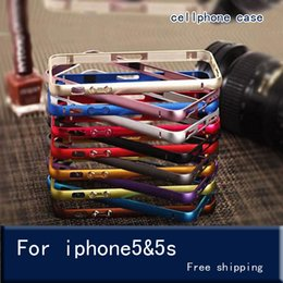 Wholesale Thin Metal Iphone 5s Cases - The metal frame for iPhone 5s SE Case Aluminium Metal Bumper Frame Case Cover for iPhone 5S SE Ultra Thin Slim case cover