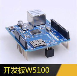 Wholesale Arduino Ethernet Shield Mega - Arduino Ethernet W5100 Shield Development board web server Expansion Board SD card UNO support MEGA
