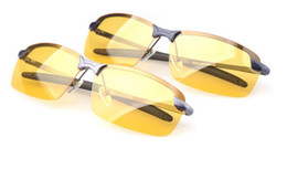Wholesale Visions Drive - Wholesale-Hot Sport Glasses Driving Sunglasses Yellow Lense Night Vision Driving Glasses Polarized Sunglasses Men Goggles Reduce Glare 50