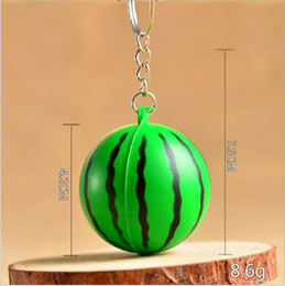Wholesale Green Electronic Products - Factory direct 2017 new key chain fruit decompression vent toys watermelon pineapple carrot key chain variety of products fast delivery
