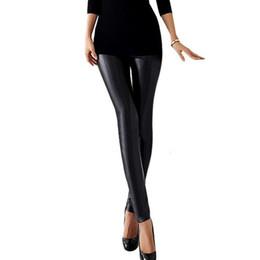 Wholesale Womens Black Leather Leggings Xl - Womens Girls Sexy Skinny Stretch Faux Leather Leggings For Women Fitness Pencil Pants Legging Black Club Leggin 8R