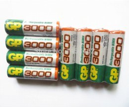 Wholesale Rechargeable Batteries Aa Gp - High quality GP Ni-MH 3000mAh AA 1.2V Rechargeable Battery 8pcs Lot , Free shipping Rechargeable Batteries Cheap Rechargeable Batteries