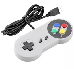 Wholesale Nes Pc Controller - Classic USB Controller PC Controllers Gamepad Joypad Joystick Replacement for Super Nintendo SF for SNES NES Tablet PC LaWindows MAC free