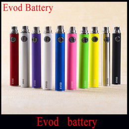 Wholesale Ego Ce5 Kit Batteries - eGo E Cigarette EVOD Battery 650mah 900mah 1100mah EVOD Battery for MT3 CE4 CE5 CE6 Electronic Cigarette E cig Kit Vape Batteries Instock