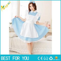 Wholesale Maid Uniform Cosplay - New hot Lolita Princess Apron Dress Maid Outfits Meidofuku Uniform Cosplay Costume