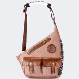Wholesale Walking Sling - Cross body shoulder bag The Walking Dead Michonne cross body Quality Canvas sling case Leather travel pouch