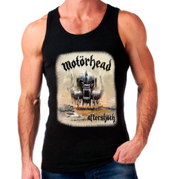 Wholesale Band T Shirt Xl - Wholesale-MOTORHEAD AFTERSHOCK Men's Sleeveless T Shirt Summer New Arrival Heavy Metal Band Fashion Tank Top Mens Gym Vest Euro Size