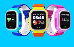 Wholesale Gps Location Finder Tracker - GPS Q90 Watch Touch Screen WIFI Positioning Smart Watch Children SOS Call Location Finder Device Anti Lost Reminder PK Q60 Q80
