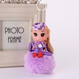 Wholesale Ddung Dolls Fashion Toys - free shipping Ddung Confused doll, hair ball, key buckle, lady fur bag, pendant doll, hair ball hanging