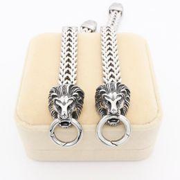 Wholesale Mens Lion Chains - 2016 New Designer Fashion Lion jewelry Classical Silver Lion Bracelet Bangle For Mens Chain Bracelet Best Gifts
