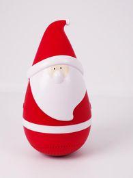 Canada Mini sans fil bluetooth père Noël noël père gobelet haut-parleur de roly-poly haut-parleur de Noël pour noël 2 # Offre