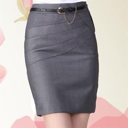 Wholesale Colors Pencil Skirts - 2016 Autumn Summer Women Career Short Formal Skirts Ladies Sexy High Waist Knee-Length Pencil Skirt 4 Colors Plus Size XXXL 4XL