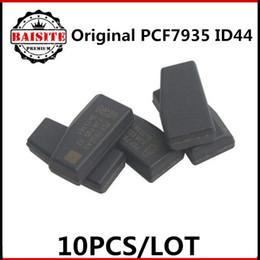 Wholesale Saab Transponder - 100% Original 10pcs lot ceramic pcf7935 transponder chip id44 id 44 pcf7935as transponder chip free shipping hot sales