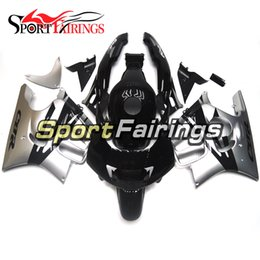 Wholesale 1995 F3 - Motorcycle Injection Fairings For Honda CBR600F F3 95 96 1995 1996 ABS Plastic Fairing Kit Bodywork Fitting Black Sliver New Cowling