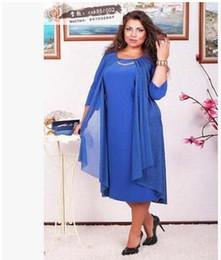 Wholesale Dress Women One Pieces - Plus size Summer new product solid half sleeve false women dress plus-size female casual one-piece festa L-3XL 4XL 5XL 6XL