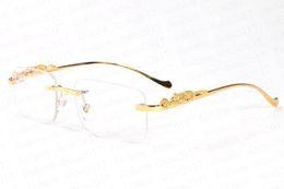 2019 gespiegelte polaroid sonnenbrille Brand Designer Polaroid Sonnenbrille für Männer cool Gold und Silber Leopardenmuster Metall Stent schwarz braun klar Spiegelglas randlose Sonnenbrille rabatt gespiegelte polaroid sonnenbrille
