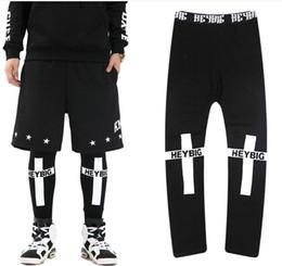 Wholesale Cross Leggings Xl - Wholesale-New 2016 HOOD BY AIR Tide brand PYREX BOY cross Printed Leggings couple of men and women