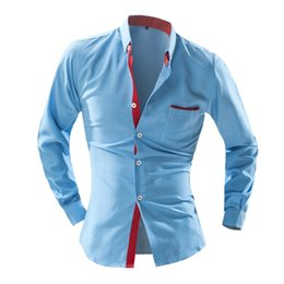 Wholesale High Priced Men S Fashion - Wholesale-Low Price New Design High Quality Men'S Fashion Brand Casual Style Personality Wave Point Polka Dot Man Shirts Camisa Masculina