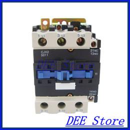 Wholesale Starter Motors - Wholesale-Motor Starter Relay CJX2-5011 contactor AC 220V 380V 50A silver point Voltage optional LC1-D