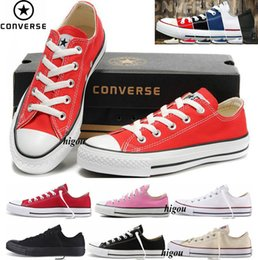 Wholesale Low Top Classic Shoes - 2017 Converse Chuck Tay Lor All Star Classic Allstar Shoes For Men Women Converses Running Low Top Casual Canvas White Sneakers With Box