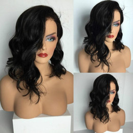 Wholesale Wig Long Wavy Bob - 4 Styles Loose Deep Bob Wavy Full Lace Human Hair Wigs Lace Front Wigs Glueless Full Lace Wig natural realistic hairline