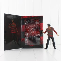 Wholesale Free Model - 18cm NECA Freddy Krueger PVC Action figure Colletable Model toy Child's Birthday Gift Free shipping retail