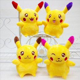 Wholesale Pikachu Costume Kids - New 20cm(8inch) Poke Pikachu Plush Dolls 2016 Children Kids Cartoon Movies Game Costume Cosplay Stuffed Animal Toys XMAS Gifts