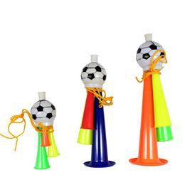 2019 детские игрушки рогатки Футбол труба вокальный концерт развеселить Рог детские игрушки игры многоцветный портативный стеклярус Эко дружественных горячей продажи 1 5pk R C скидка детские игрушки рогатки