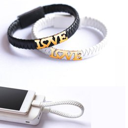 Wholesale Trendy Fashion Accessories Wholesale - Leather USB Charge Line USB Date Line Fashion Bracelet Portable Decorated For Android And Smart Phones and Trendy 3C Accessories