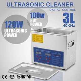 Wholesale Ultrasonic Heater - New Stainless Steel 3 L Liter Industry Heated Ultrasonic Cleaner Heater w Timer