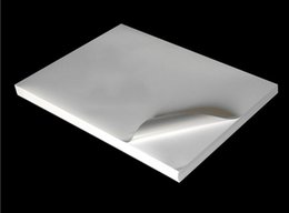 Wholesale Blank Printing Paper - Wholesale- 100 sheets A4 (297x210mm) waterproof adhesive paper blank printing copy white sticker label glossy surface Paper For Laser