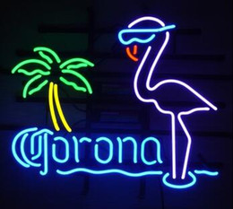 Distributors of discount corona neon bar signs funniest bar new corona flamingos glass neon sign light beer bar pub arts crafts gifts lighting size 22 mozeypictures Images