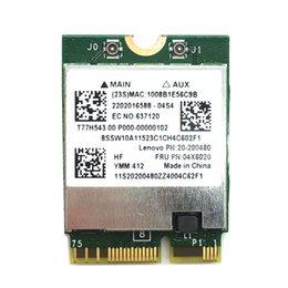 Wholesale Wlan Card Bluetooth - Wholesale- BCM94352 BCM94352Z 2x2AC Bluetooth BT4.0 M.2 NGFF WLAN Adapter card for Yoga 3 1370 Y50-70 Series FRU 04X6020